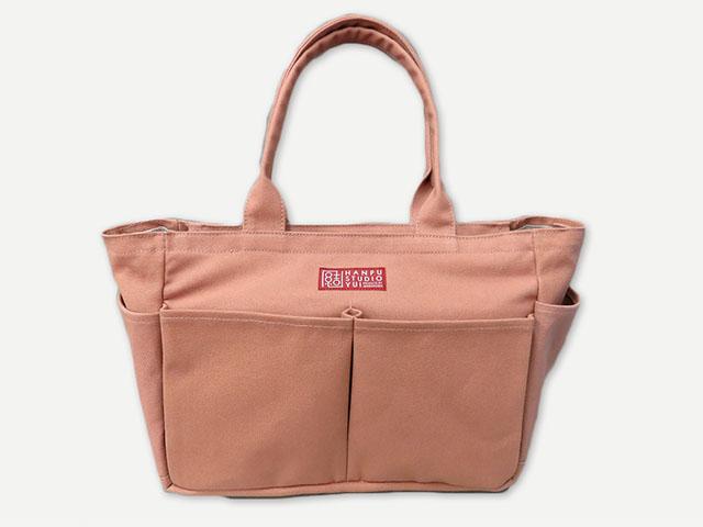 ポケットファスナーバッグ(倉敷帆布) 【はんぷ工房結】【納期約1ケ月】
