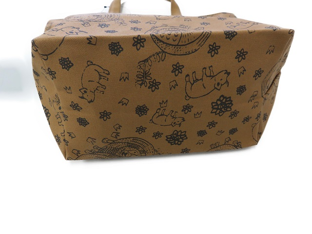羊柄トートバッグ中 3色倉敷帆布 3年保証 はんぷ工房結