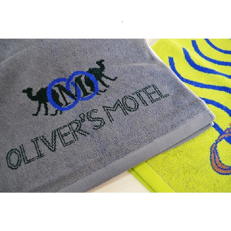 OLIVER'S MOTEL オリジナルタオル(緑、鼠の2色あり) 【スウィング】【納期約3〜5日】