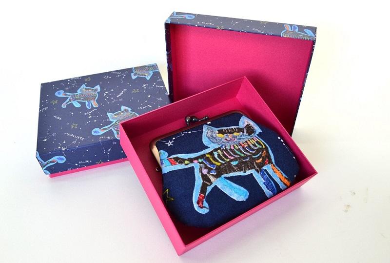 ネコ好きな方に かわいいがま口&キュートな箱「ネコ」 【スウィング】【納期約3〜5日】