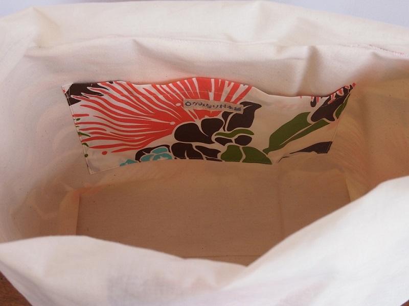 ハワイアンLトートバッグ レフア茶  【かみなり村本舗】【納期約3〜5日】
