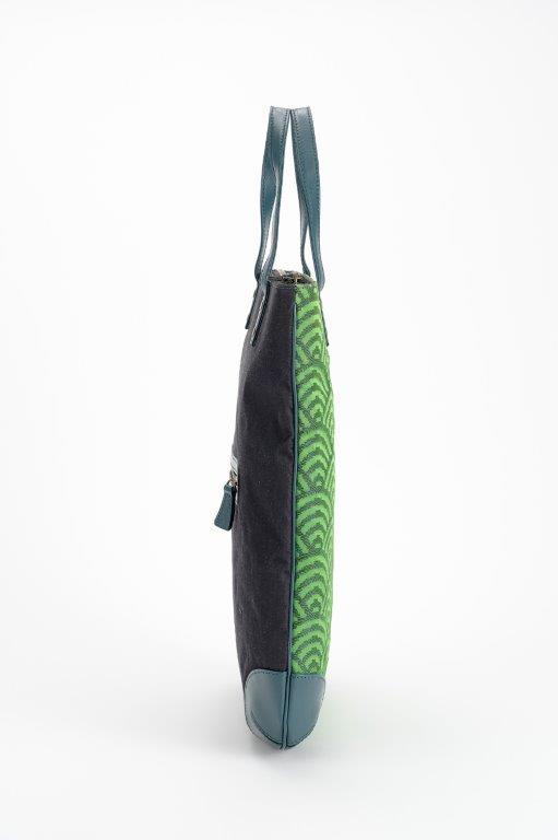 西陣織 トートバッグ 青海波(せいかいは) 本体絹100%【西陣工房】【一点もの 納期3〜5日】