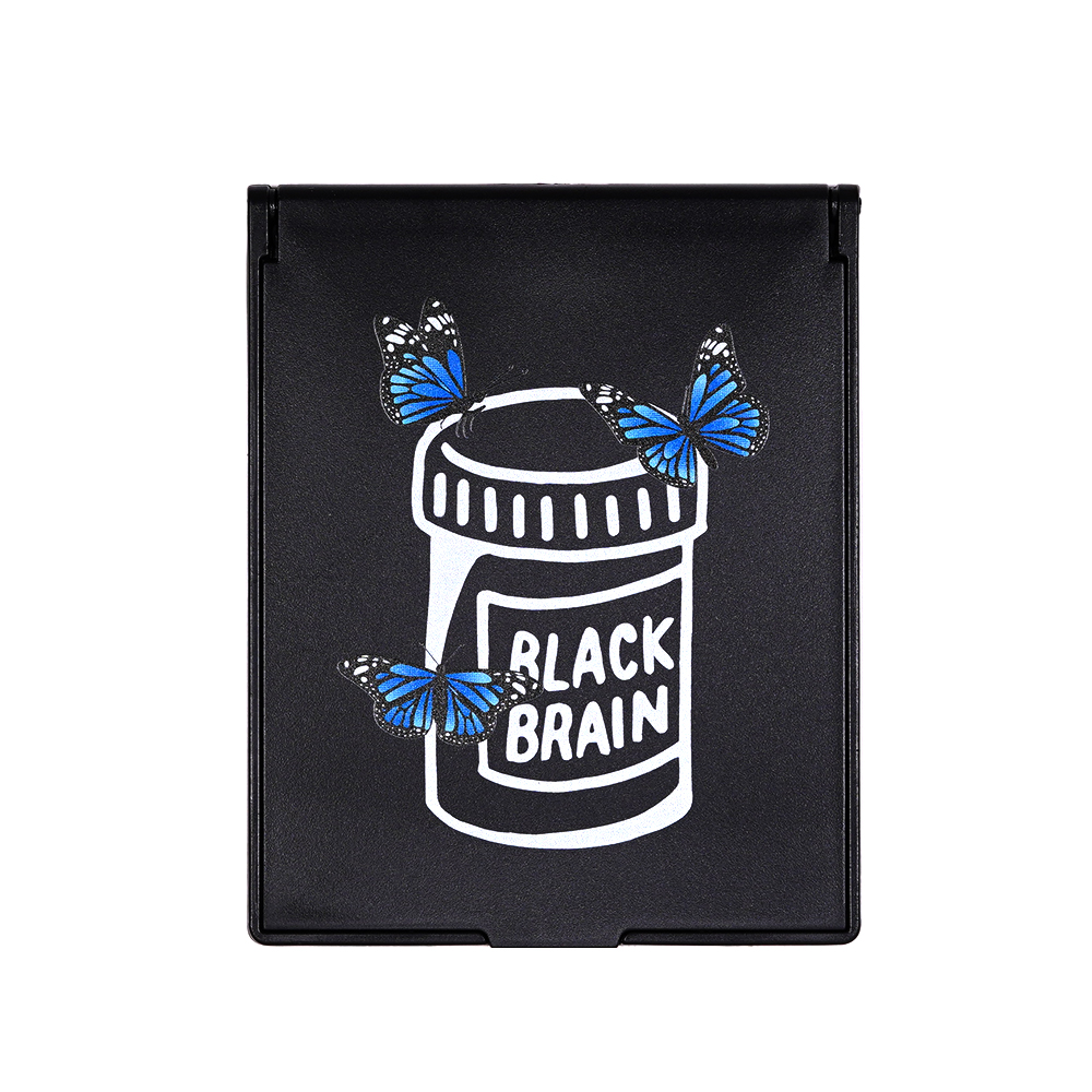 Blue Butterflies Bottle Folding Mirror