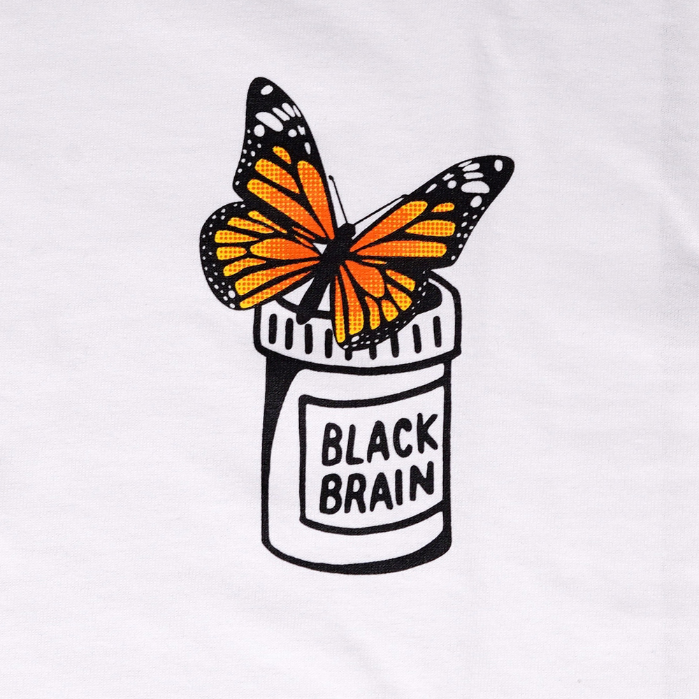 Yellow Butterflies Bottle LS Tee