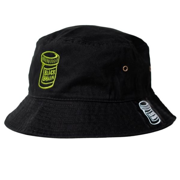 PillBottle Bucket Hat (Black x Monster Green)