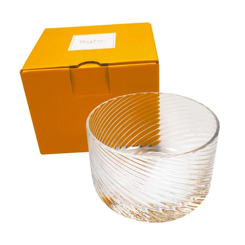 翌日配達 Sghr ガラス製 デザートカップ(1個) & ハーゲンダッツギフト券(1枚)プレゼントラッピング