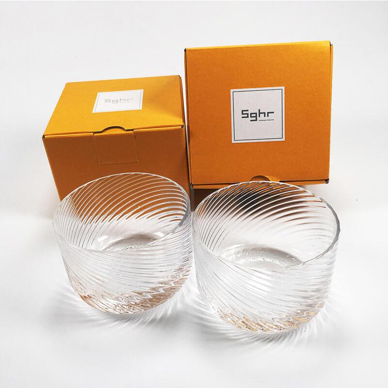 翌日配達 Sghr ガラス製 デザートカップ(2個) & ハーゲンダッツギフト券(2枚)プレゼントラッピング