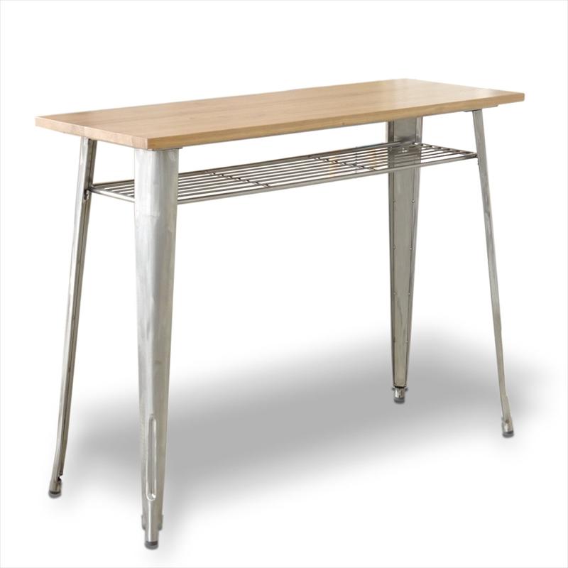 ナチュラルウッド1281ハイテーブル(クリア色)【KD】