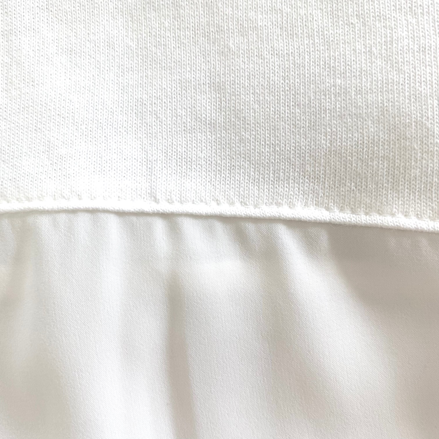 バックスリット異素材Tシャツ