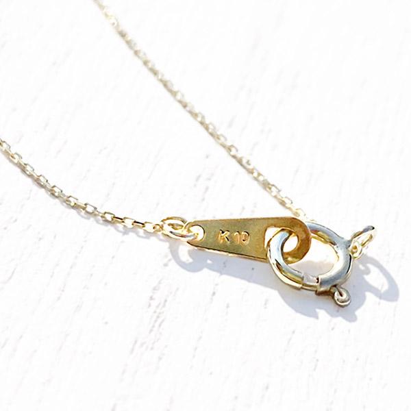 1点もの [K10YG] Sapphire necklace square yellow