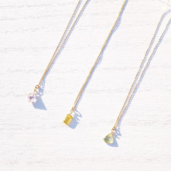 1点もの [K10YG] Sapphire necklace drop yellow