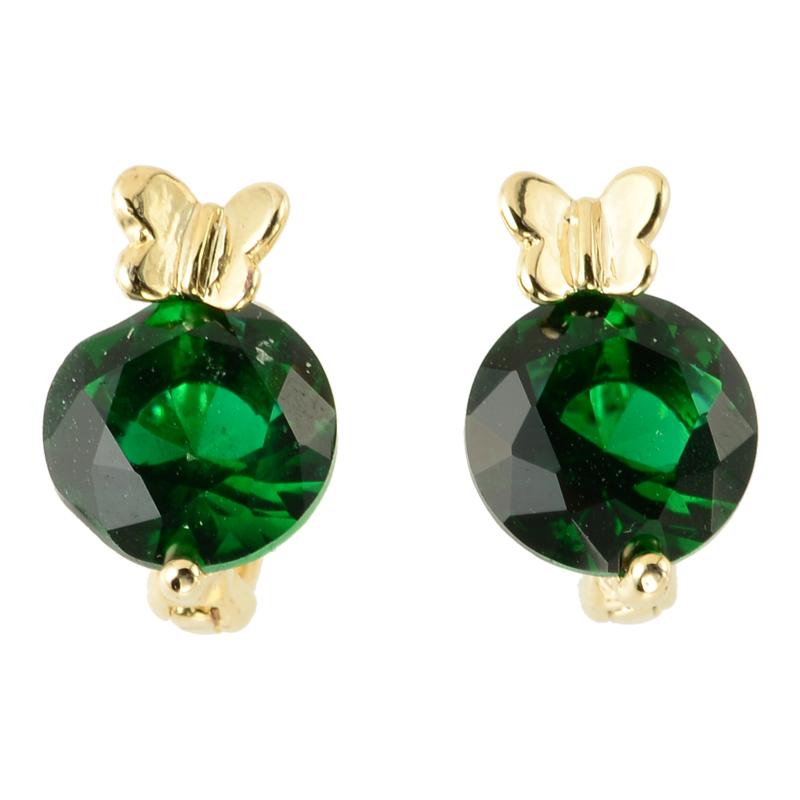 Petite butterfly catch pierce (green)