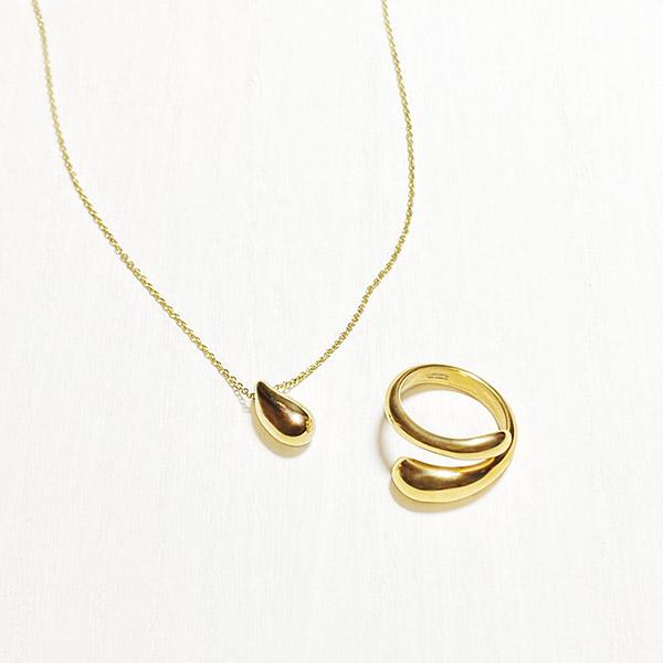 [Set] Honey necklace & ring (gold)
