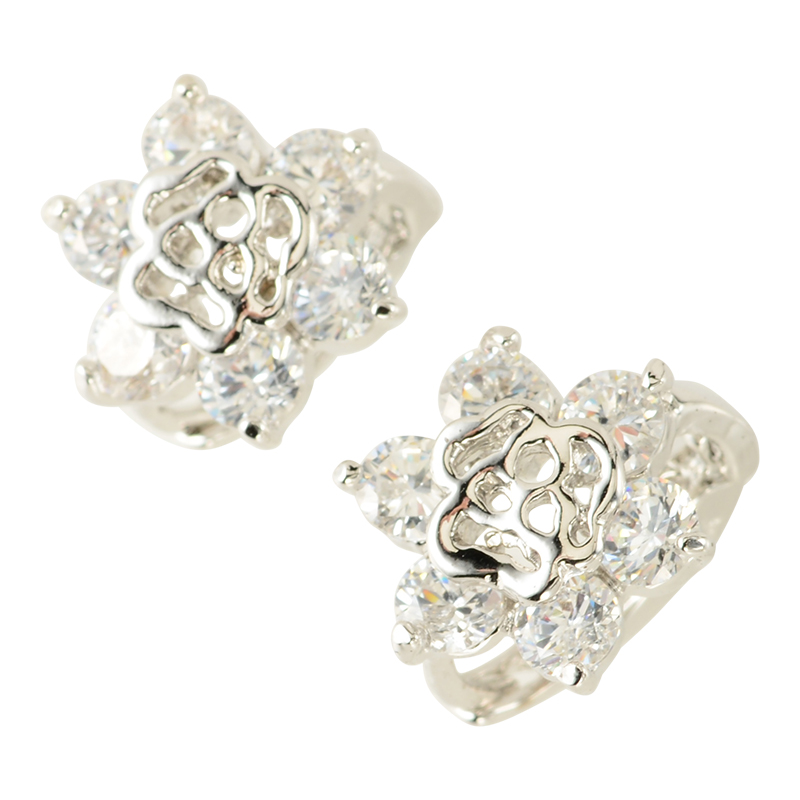 Rose stone pierce (silver)