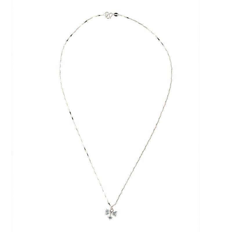 Ribbon charm necklace