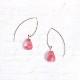 [14Kgf] Cherry quartz pierce