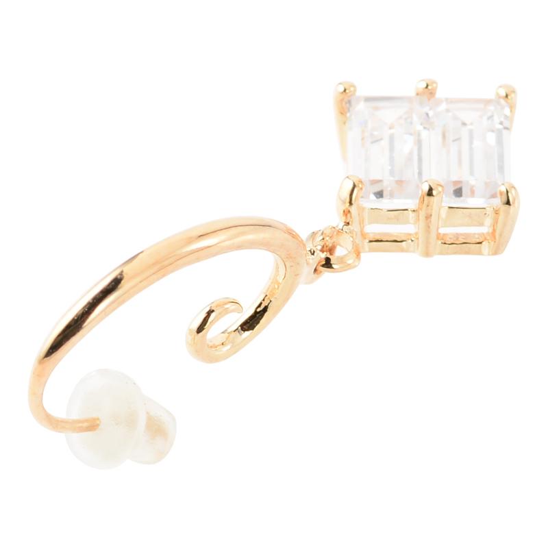 Bright square pierce (gold)