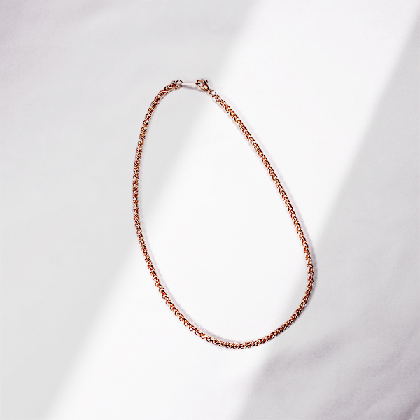 Fox tail chain necklace