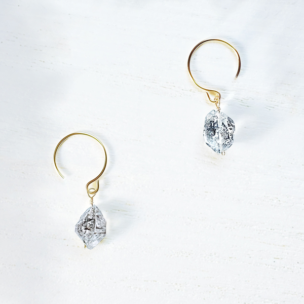 [14Kgf] Double point quartz pierce (数量限定)