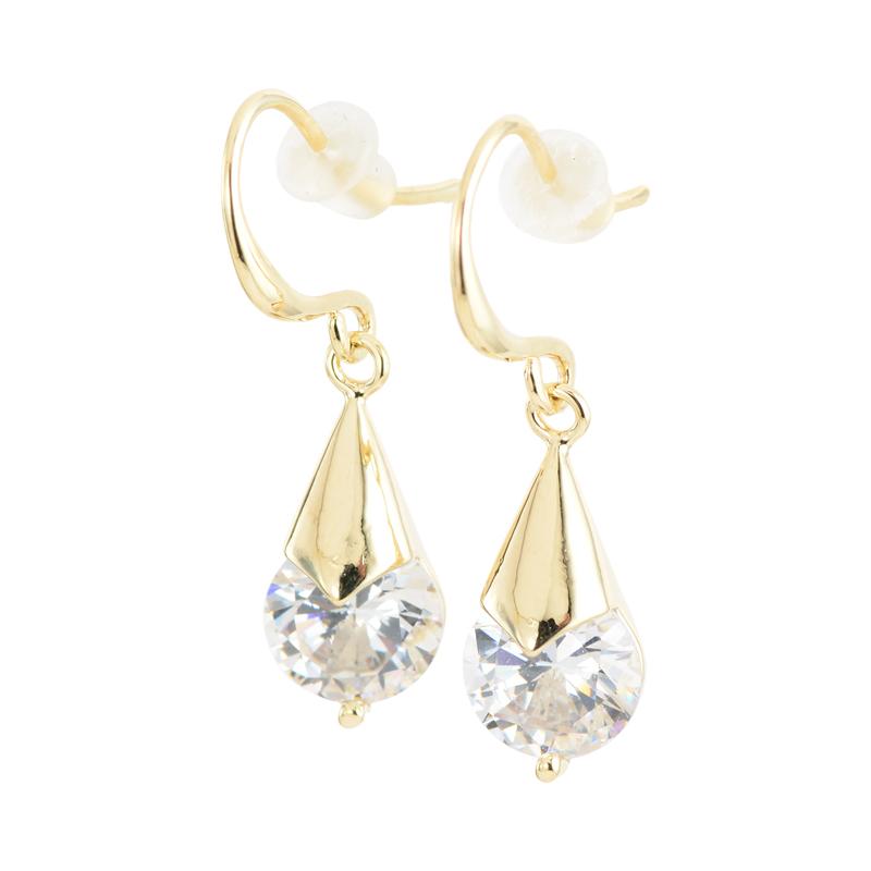 Bright drop stone pierce (gold)