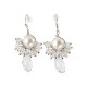 Elegant pearl&stone pierce (silver)