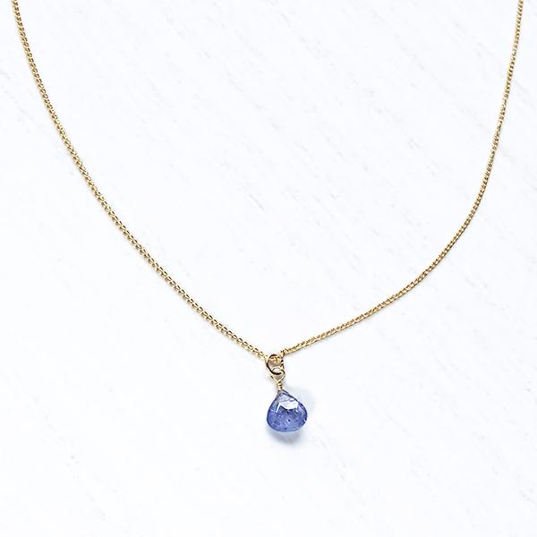 [14Kgf] Tanzanite necklace (marron)