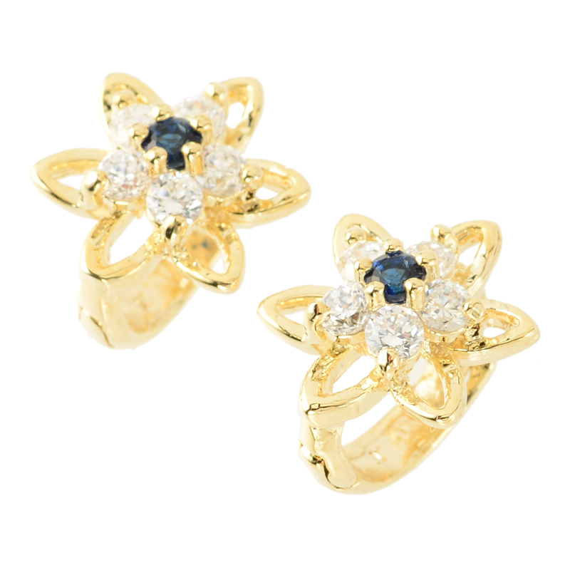 Flower & star pierce (blue)