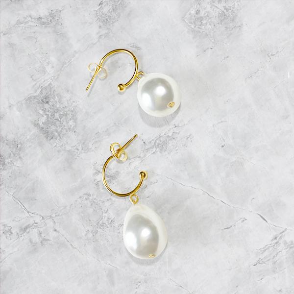 Large drop pearl pierce