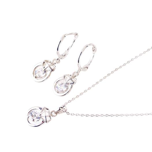 【SET】 Jewel charm pierce & necklace