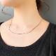 Flat snake necklace
