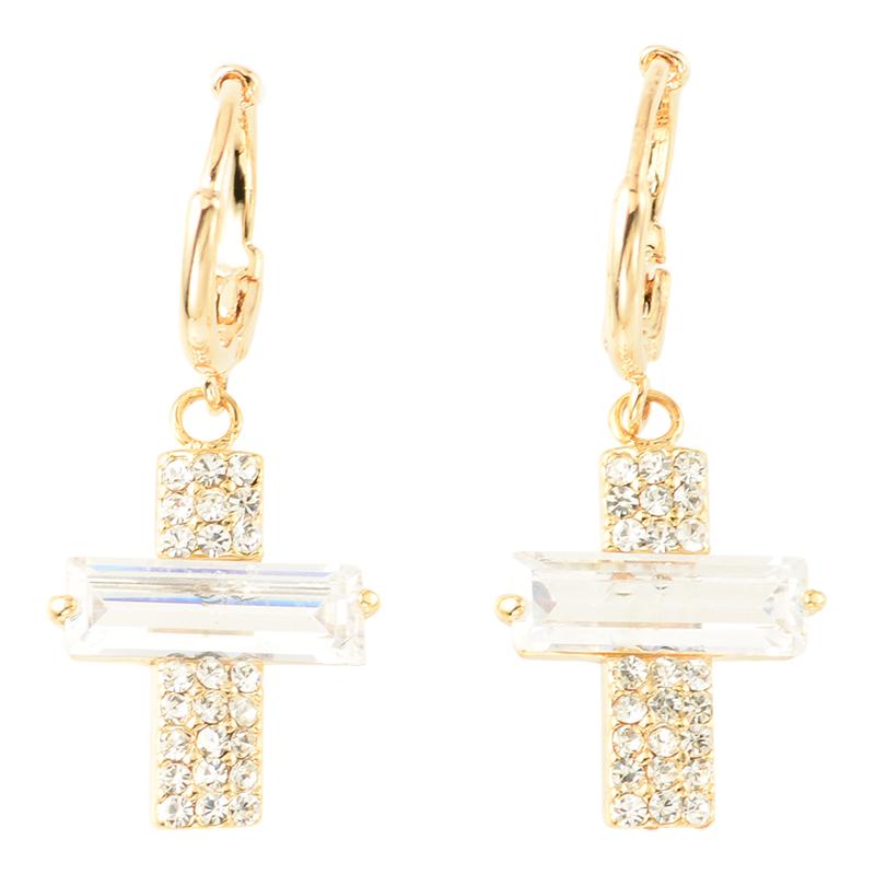 【SET】 Shine cross pierce & necklace