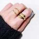 Wave feminine ring