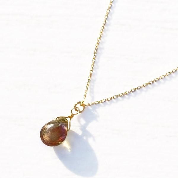 [K10YG] Tourmaline necklace