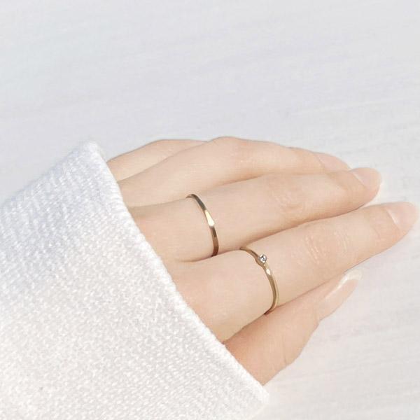 [14Kgf] Layered ring set