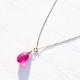 [K18/K10] Ruby pierce and necklace set