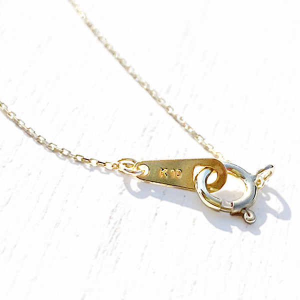 1点もの [K10YG] Sapphire necklace pink
