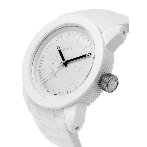 DIESEL ディーゼル DZ1436 Double Down メンズ 腕時計 オールホワイト Watch 44mm
