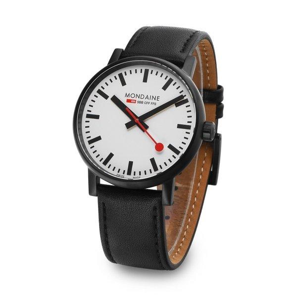 MONDAINE モンディーン MSE.40111.LB EVO2 メンズ 腕時計 Black Leather Watch 40mm