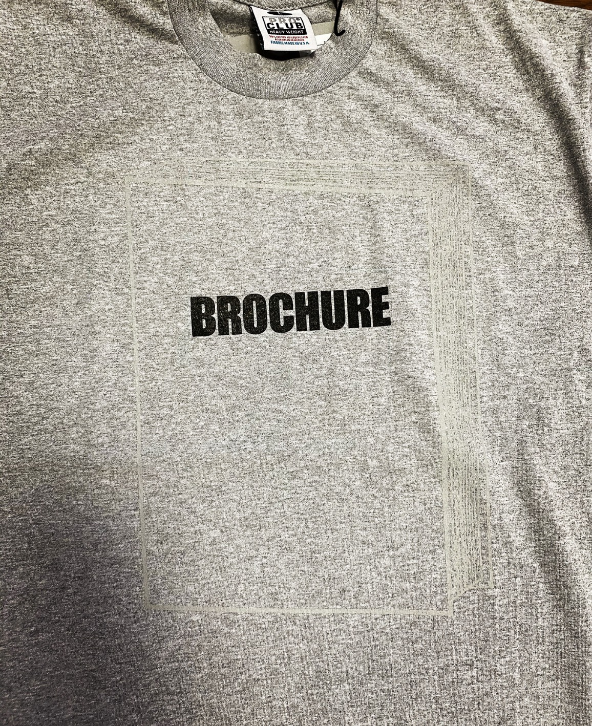 BROCHURE BOOK LOGO TEE