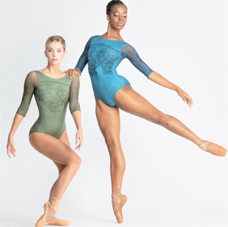 Ballet Rosa フラワープリント3/4スリーブレオタード Rosella ロゼッラ