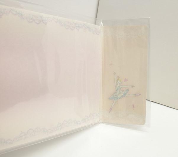 たけいみき バレエ柄ペーパーアルバム 【L版写真20枚まで収納可】