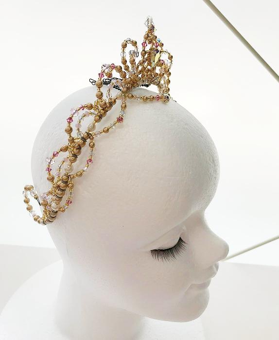〜Ballet Tiara Lotus〜 オリジナルバレエティアラ 【ゴールド】オーロラ姫や金平糖の精etc