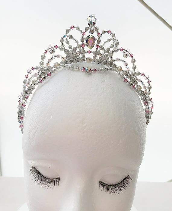 〜Ballet Tiara Lotus〜 オリジナルバレエティアラ 【シルバー】オーロラ姫や金平糖の精etc