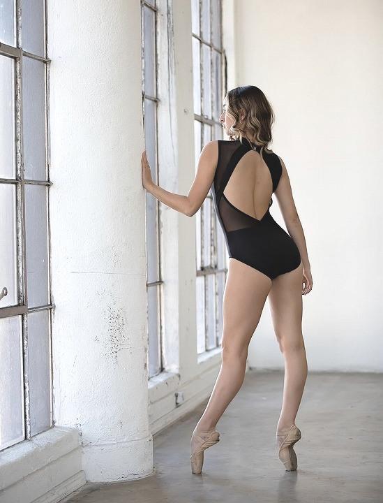 【Chic Ballet】 Gisselleレオタード Black