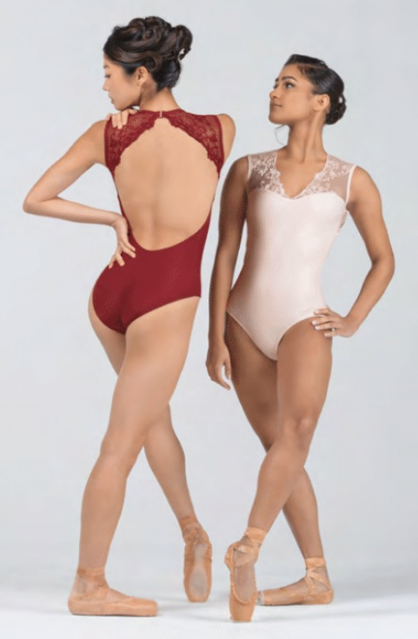 BalletRosa レースVネックレオタード EMMELINE