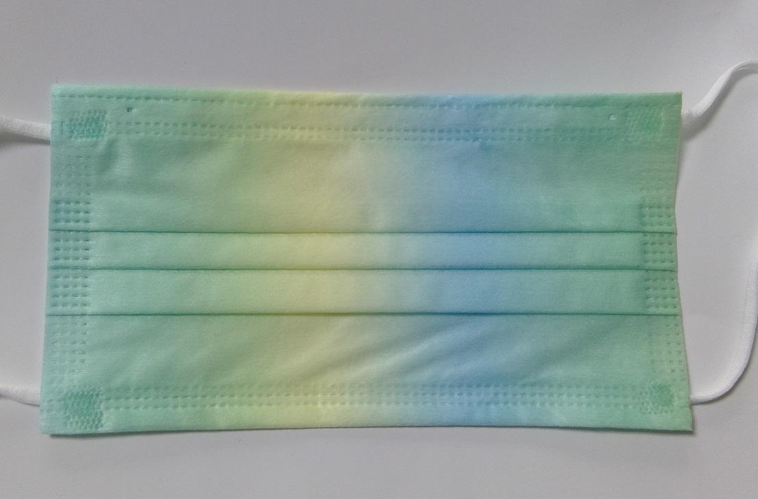 接触冷感不織布マスク グラデーションカラー 10枚入