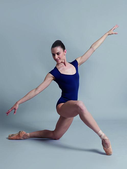 【特注/メーカーお取り寄せ】Ballet Rosa キャップスリーブレオタード SISSI