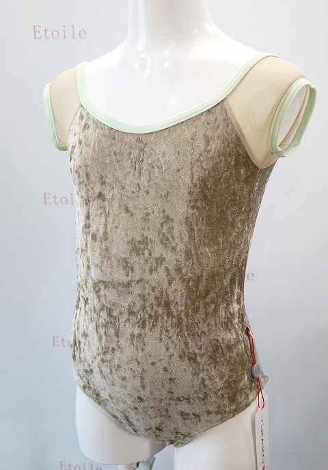 Kids YUMIKO Wendy V-Toffee/MESH-Brule/T-Pistachio (Front)