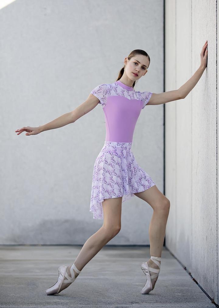 【Chic Ballet】 Isabelleレオタード VIOLET BOTANICAL