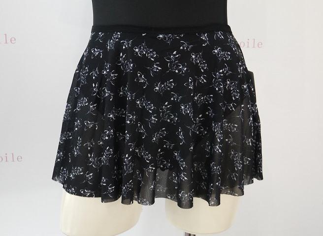 【Chic Ballet】 Belladonnaスカート Black Floral